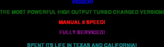 2001 Saab 9-3 Viggen: 2001 Saab 9-3 Viggen 5SP Manual Convertible 54K mi Servcd CARFAX Southern!